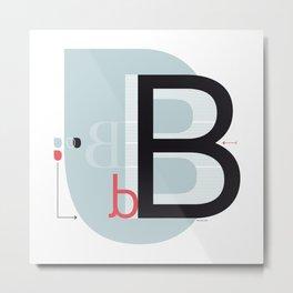 B b Metal Print
