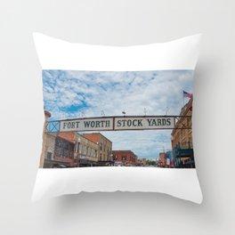 Fort Worth Stockyards 2 Throw Pillow