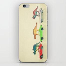 Dinosaurs Ride Cars iPhone Skin