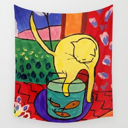 Cat with Red Fish- Henri Matisse Wall Tapestry
