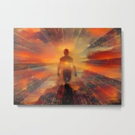 Spirit emerges from the light Metal Print