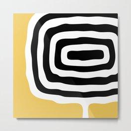 Abstract Geometric Rings 222 Metal Print