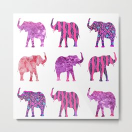 Pretty in Pink Elephant Print Metal Print