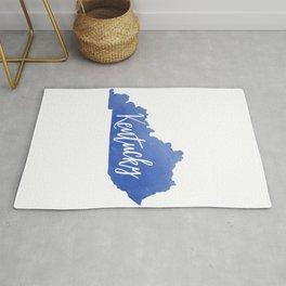 Kentucky Map State Watercolor Print Rug