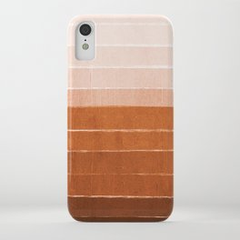 Sunset - rust, terracotta, clay, desert, sunshine, boho, ombre, paint, sunset colors,  iPhone Case