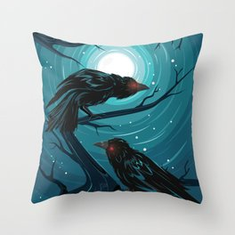 Hugin and Munin Throw Pillow