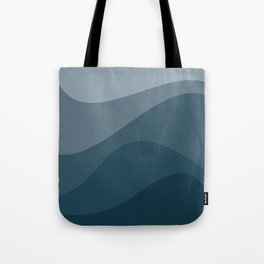 Abstract Color Waves - Blue Palette Tote Bag