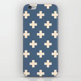 Swiss Cross Blue iPhone Skin