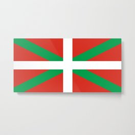 Flag of Euskal Herria-Basque,Pays basque,Vasconia,pais vasco,Bayonne,Dax,Navarre,Bilbao,Pelote,spain Metal Print