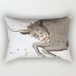 Vintage Taurus Constellation Map (1825) Rectangular Pillow