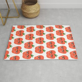 Happy Apple Whimsical Art Rug