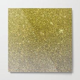 Trendy golden glitter, sparkle Metal Print