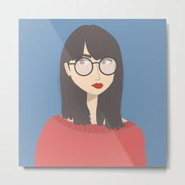 BETH | Female Digital Illustration Metal Print