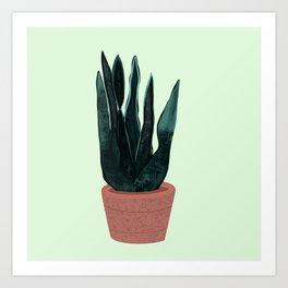 Karen the Snake Plant Art Print