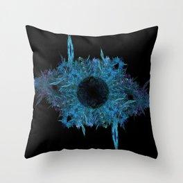 Blue eye - fractal Throw Pillow