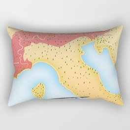 Illustrated map of the Alps Rectangular Pillow