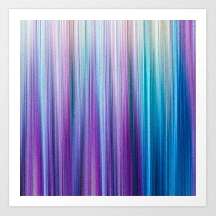 Abstract Purple and Teal Gradient Stripes Pattern Kunstdrucke