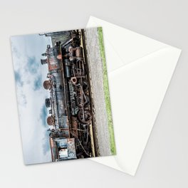 Grand Trunk and Western Railroad Switcher 8380 Rusty Steam Train Stationery Cards