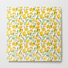 sunny lemons print Metal Print