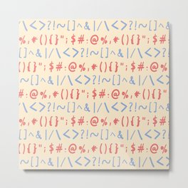 Type Marks and Signs Pattern Metal Print