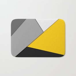 Simple Modern Gray Yellow and Black Geometric Badematte