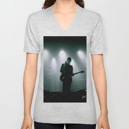 Paul Banks / Interpol at Terminal 5 New York City B&W Unisex V-Neck