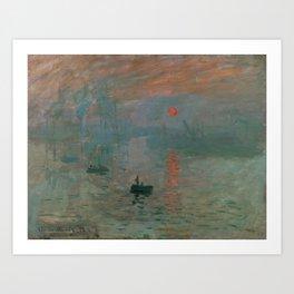 Claude Monet - Impression, Sunrise Art Print