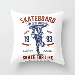 Skateboard San Diego California Throw Pillow