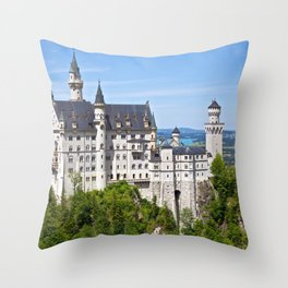 Wonderful Romantic Neuschwanstein Castle Schwangau Bavaria Germany Europe Ultra HD Throw Pillow