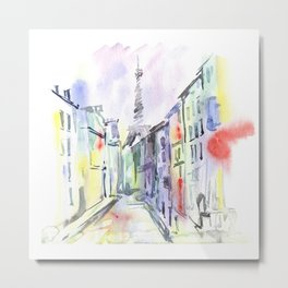 Paris street. Metal Print