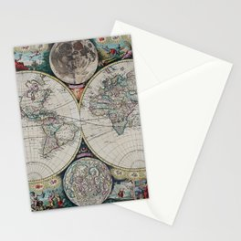 Atlas Maritimus - Vintage World Map Stationery Cards
