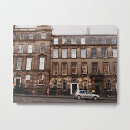 Edinburgh Streets Metal Print