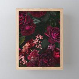 Vintage & Shabby Chic - Night Botanical Flower Roses Garden Framed Mini Art Print