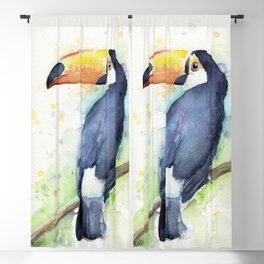 Toucan Tropical Bird Watercolor Blackout Curtain