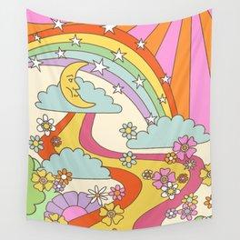 retro hippie boho print  Wall Tapestry