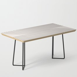 Minimal Line Curvature - Black and White I Coffee Table