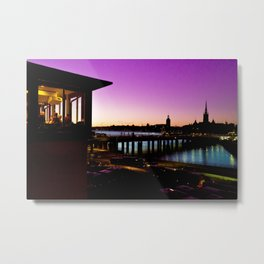 Stockholm By Night Metal Print