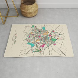 Colorful City Maps: Lexington, Kentucky Rug