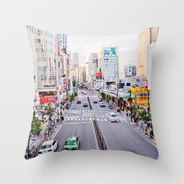 Shinjuku forever Throw Pillow