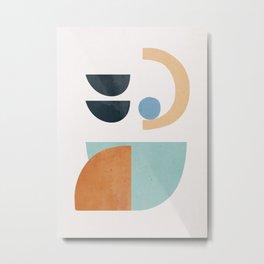 Abstract Minimal Shapes 30 Metal Print