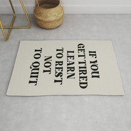 Learn To Rest Rug