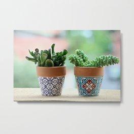 Fat Plants Pots Plant Metal Print