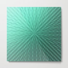 modern digital abstractes pattern in delicate mint, turquoise Metal Print