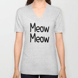 Meow Meow Unisex V-Neck