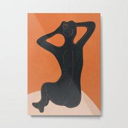 Abstract Nude I Metal Print