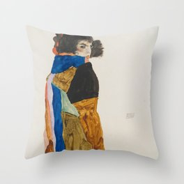 Egon Schiele - Moa (Dancer) Throw Pillow