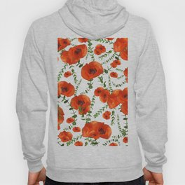 Red Poppies Eucalyptus Dream Pattern #1 #floral #decor #art #society6  Hoody