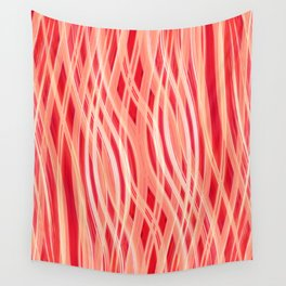 Red waves Wall Tapestry
