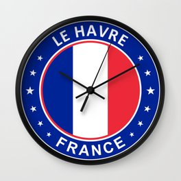 Le Havre, France Wall Clock