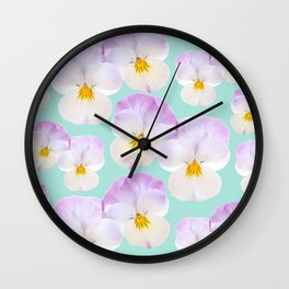 Pansies Dream #1 #floral #pattern #decor #art #society6 Wall Clock